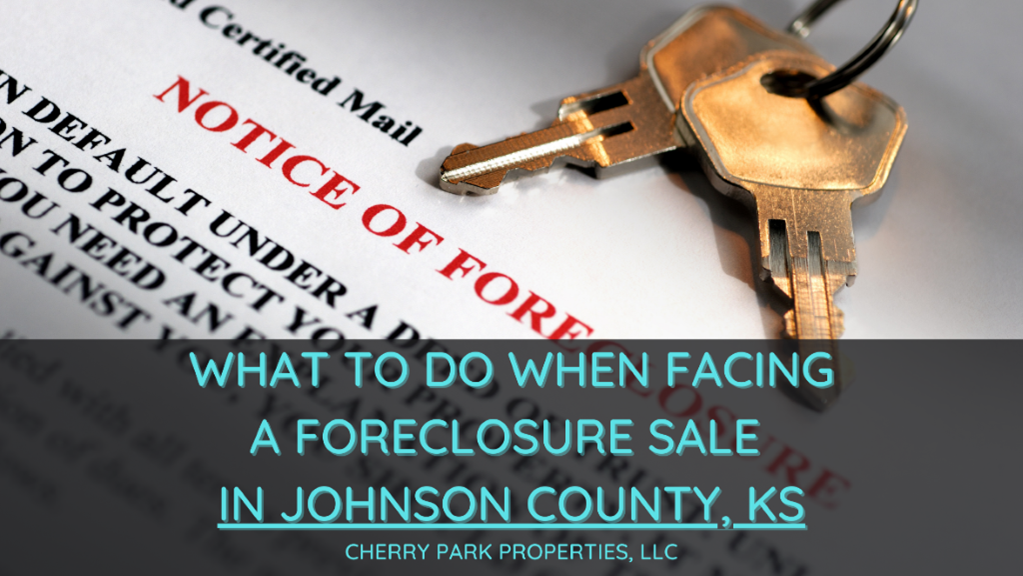 foreclosure sale in Johnson County, KS